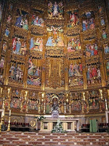 Catedral de Toledo, retablo mayor. Fin XV. Trabaja SEBASTIAN DE ALMONACID.