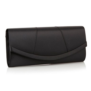 Black Panelled Satin Clutch Bag - Evening & clutch bags - Handbags & purses - Women -