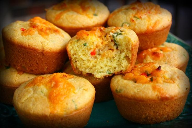 Savory Stuffed Corn Muffins. | CaribbeanPot.com
