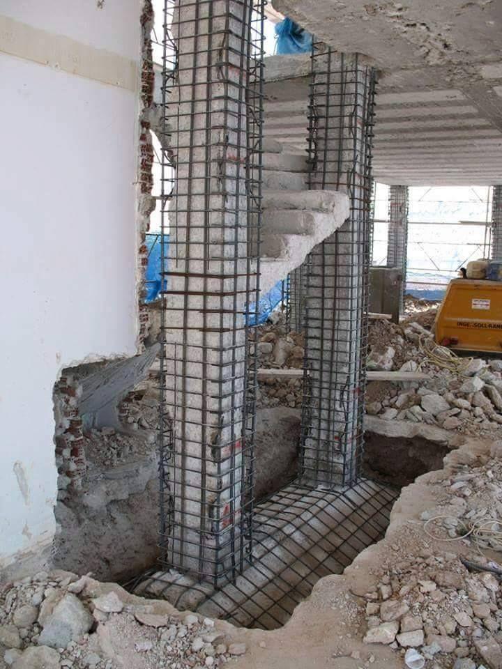 La remodelaci n de columnas para viejos edificios a ser for Pilares y columnas