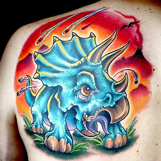 Ink Master: Revenge  Done by: Cleen Rock One  Challenge: New School Dinosaur  Set by: Jime Litwalk
