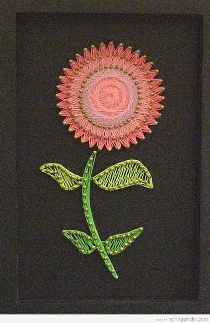 Flower string art-need to do a hibiscus