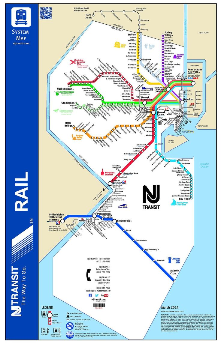 The rail map of New Jersey Heres the original PDF its