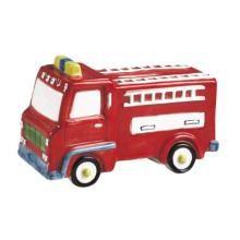 Firetruck Piggy Bank #piggybank #firetruck #themeparty www.bitememore.com