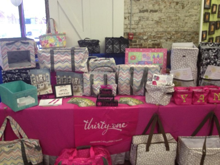My Thirty One display at a Baby Expo!  Thirty One has awesome products to keep mommies and babies organized!