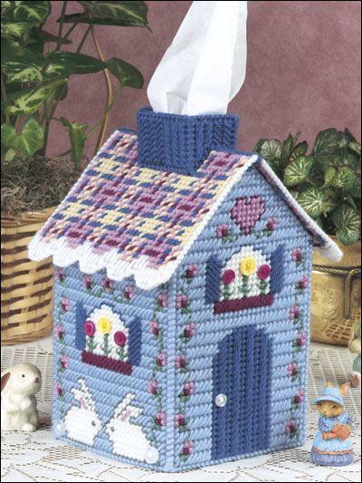 Download Plastic Canvas Patterns   Cottage Tissue Topper