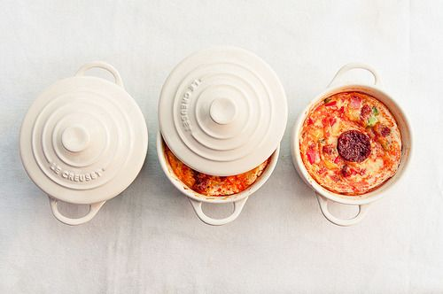 Flans aux poivrons et chorizo// Bell-peppers and chorizo flans