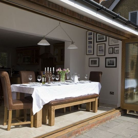 Conservatory And Glass Extension Ideas: 43 Best Images About Bi-Folding Doors. On Pinterest