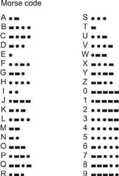 Morse code. . . U thought of Leo when u saw this, huh? :)