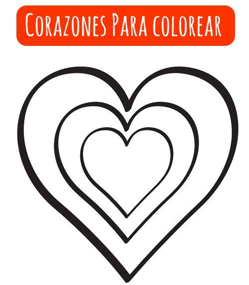 Corazones para colorear san valentin pinterest cards - Corazones de san valentin ...