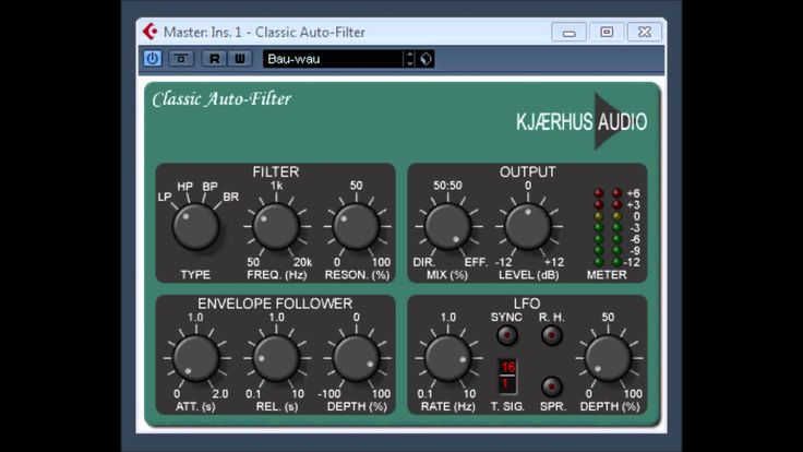 Classic Auto Filter by Kjaerhus Audio The Classic Auto-Filter is an analog modeled four-pole filter with resonance control. for more information visit. http:...