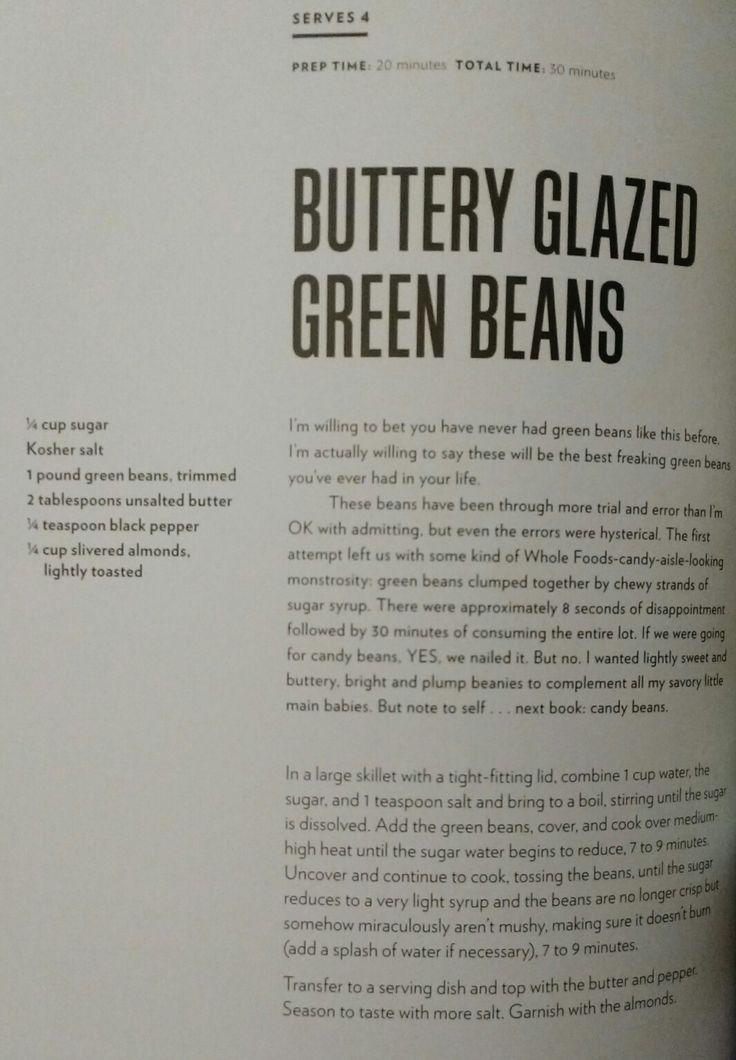 Buttery Glazed Green Beans - Chrissy Teigen, *Cravings*