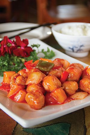 Sweet and Sour Chicken at Mandarin Taste.