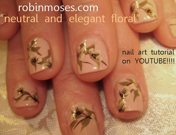 Neutral flower nails