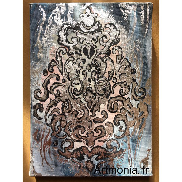 Collection : Empreintes. Parfait pour iriser une petite pièce ou une entrée ! Techniques mixtes  Format : 19x27 cm www.artmonia.fr