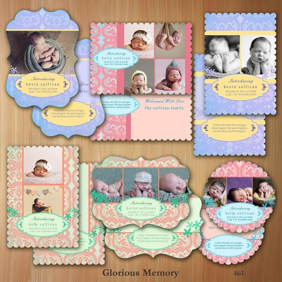 Photoshop Templates For Photographers Birth by GloriousMemory,