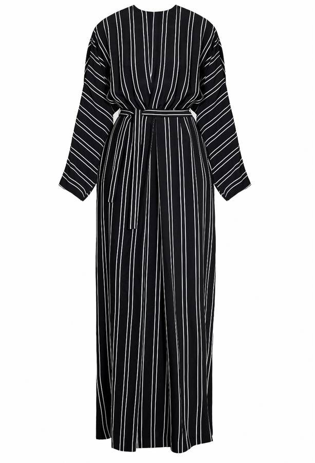 Undress - Tulua Black & White Striped Maxi Occasion Wedding Guest Dress