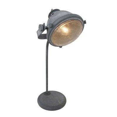 Steinhauer Mexlite Grijs Tafellamp 1-lichts 1333GR | De Lampen Webwinkel