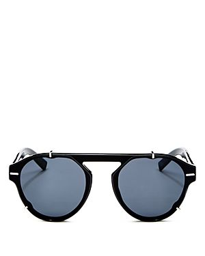 c2506055c DIOR HOMME MEN'S BLACK TIE FLAT TOP ROUND SUNGLASSES, 62MM. #dior ...