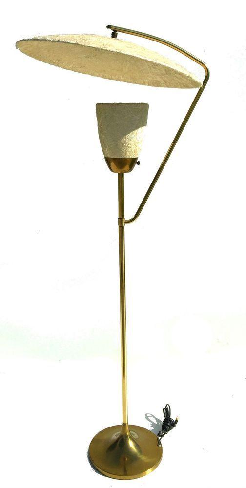 Mid Century Modern 1950s Atomic Moss Floor Lamp Mitchell Bobrick Style Kitsch Unknown