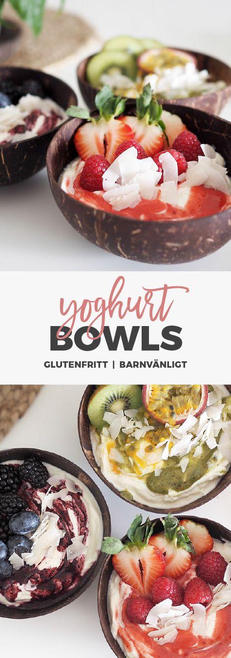 Recept: Yoghurtbowls med frukt och bär.