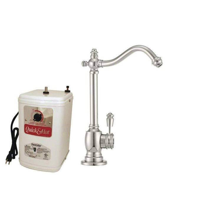 Westbrass Victorian Single-Handle Hot and Cold Water Dispenser Faucet in Polished Nickel with Instant Hot Tank