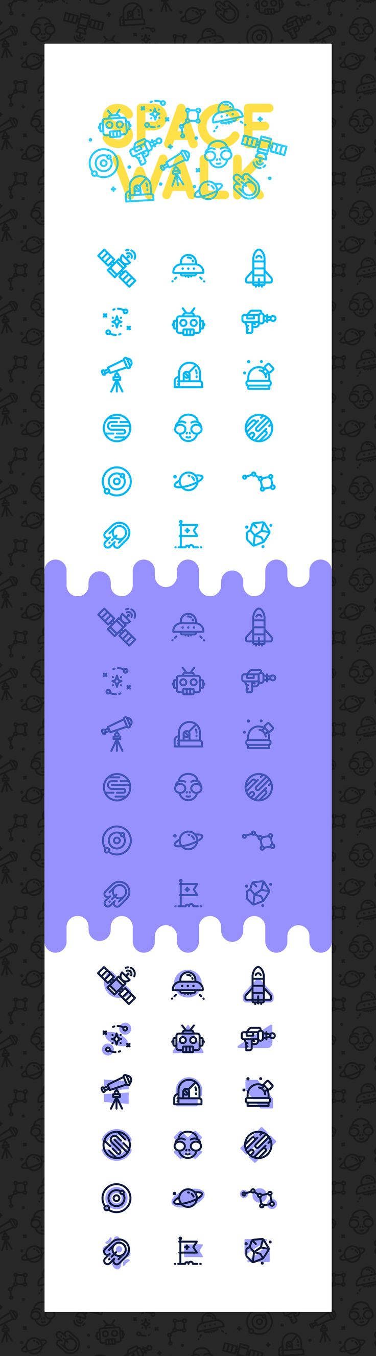 SpaceWalk / Icons & Patterns on Behance
