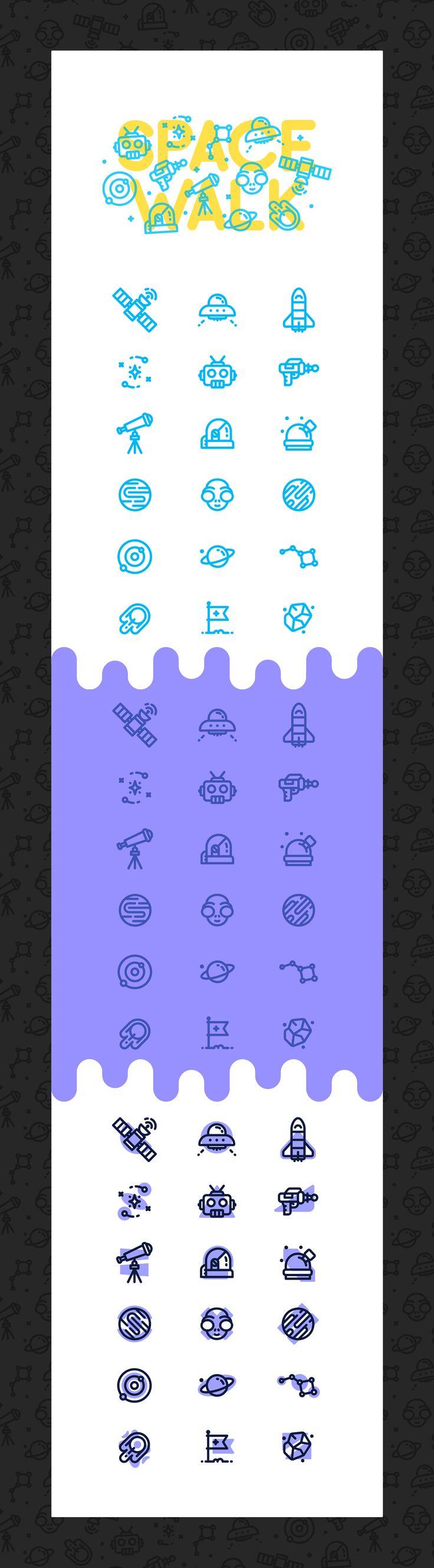 SpaceWalk / Icons & Patterns on Behance