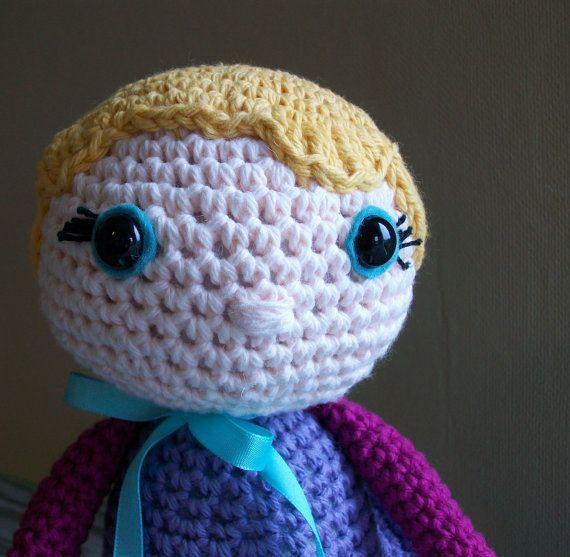 Doll Eyes For Amigurumi : girl - plush doll- crochet amigurumi // blonde blue eyes ...