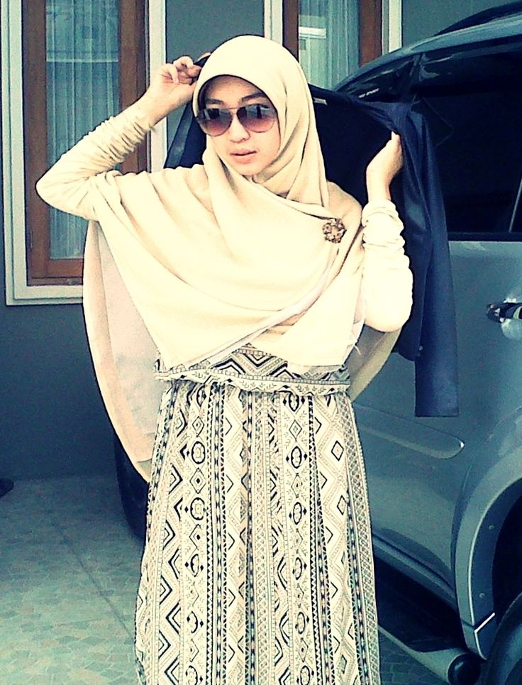 they say #hijab make you look like terrorist, well thank you, don't want to disappoint you, but I'm afraid I'm too awesome for that job #leatherjacket #sunglasses #printedmaxidress #muslimfashion