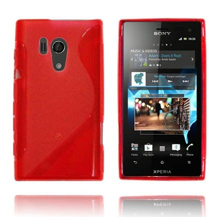 Transparent S-Line (Rød) Sony Xperia Acro S Deksel
