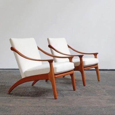 Lounge Chair by Arne Hovmand Olsen for P. Mikkelsen