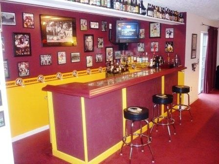 Man Cave Birthday Ideas : Best home redskins football man cave room images