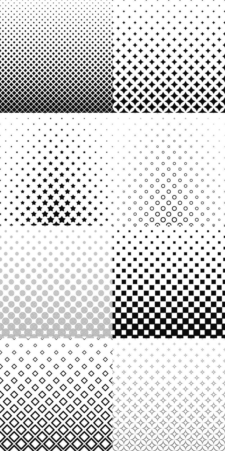 90+ black and white pattern backgrounds - vector background collection