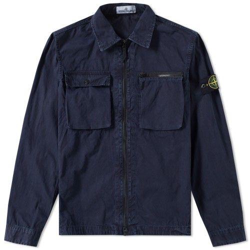 Done: Stone Island Garment Dyed Shirt Jacket (Navy)