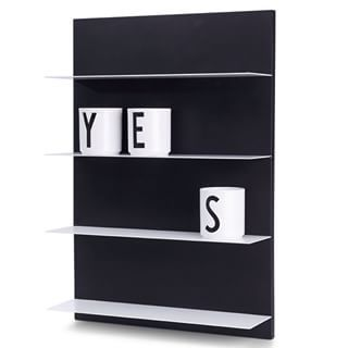 Design Letters new shelf Black Paper A2. A three-dimensional construction of a lined paper special designed to fit all rooms in the home.