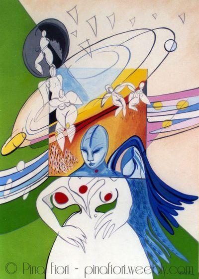 L'angelo azzurro - © Pina Fiori #art #painting #artlovers #modernart #artsblog #artgallery #arte #angel
