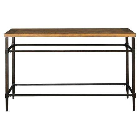Kassius Console Table Light Oak - Furniture of America : Target