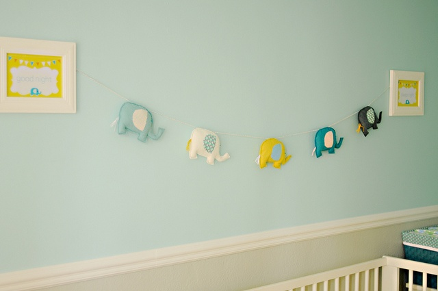 elephants. Make from felt as a banner across the window or for above the closet