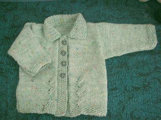 Knitting Galore: Leaf Panel Baby Jacket