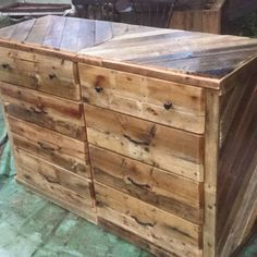 recycled pallet dresser and chest of drawers