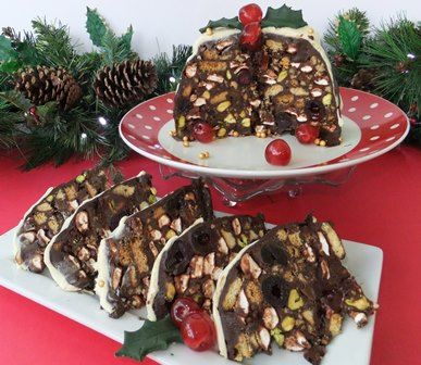Rocky road Christmas pudding | Cooking Courses in Brighton, Sussex | Lets Cook at Home