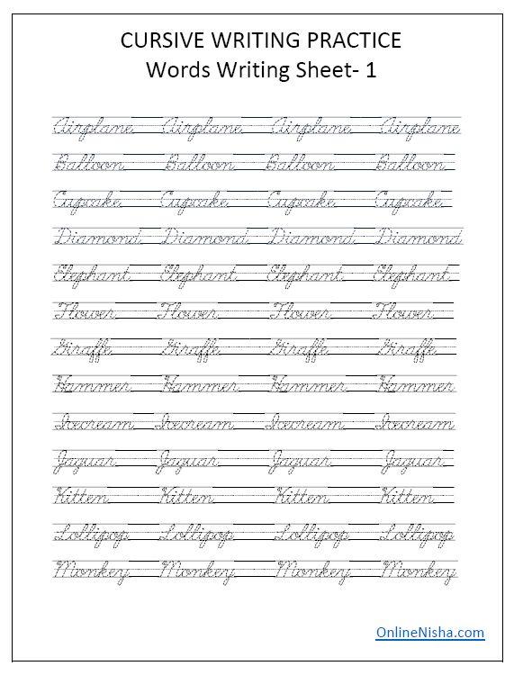 cursive handwriting worksheets free printable cursive. Black Bedroom Furniture Sets. Home Design Ideas