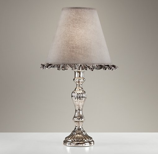 Vintage mercury glass table lamp table restoration - Restoration hardware lamps table ...
