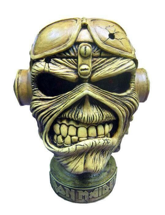 Metal Band IRON MAIDEN ACES HIGH Great handcraft piece for your Music Collection . Details : Item : table piece head sculpture Album : ACES HIGH Iron Maiden Size : 10 inches tall Material : Resyn Color : gray Weight: 2-3 pounds without battery lid been an artisan product Good well made heavy piece for your iron maiden collection I have other handmade designs. Check store for more and also in lots at Wholesale prices . We ship worldwide. Estimate del