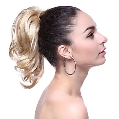 Top+Grade+Synthetic+Short+Blonde+Wavy+Ponytail+–+CAD+$+13.89