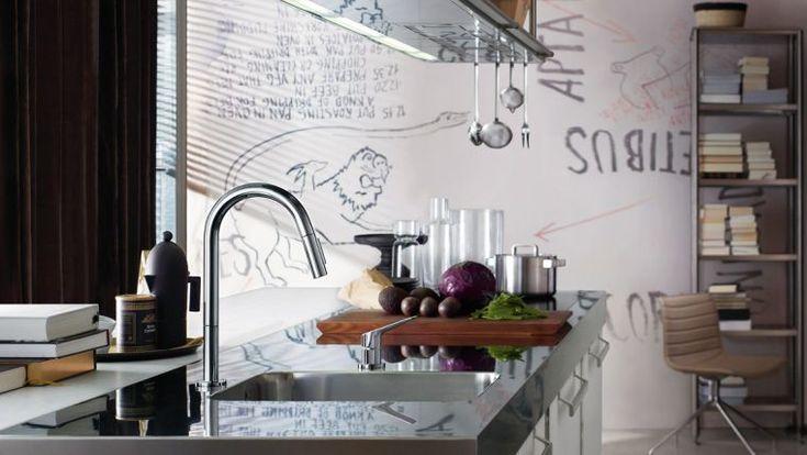 35 modèles de cuisine aménagée et idées de plan de cuisine ... - Modele De Cuisine Design Italien