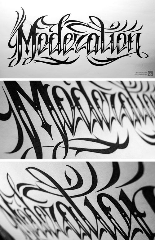 Moderation, hand lettering by Maxwell Lord