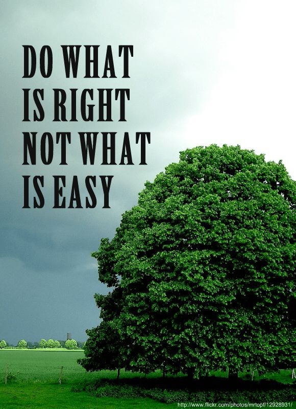 Image result for do what is right not what is easy