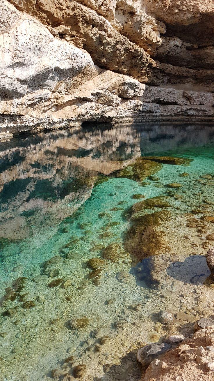 Dive deep into the unknown Bimmah Sinkhole in Oman. Photo captured by Daniel Clarke.